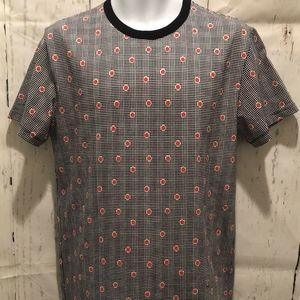 Maison Kitsune T Shirt Retro Plaid Spot Cotton